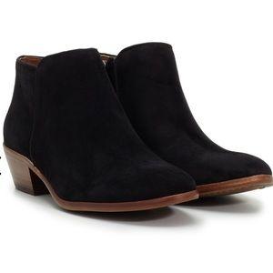 Sam Edelman Black Suede Petty Ankle Boot